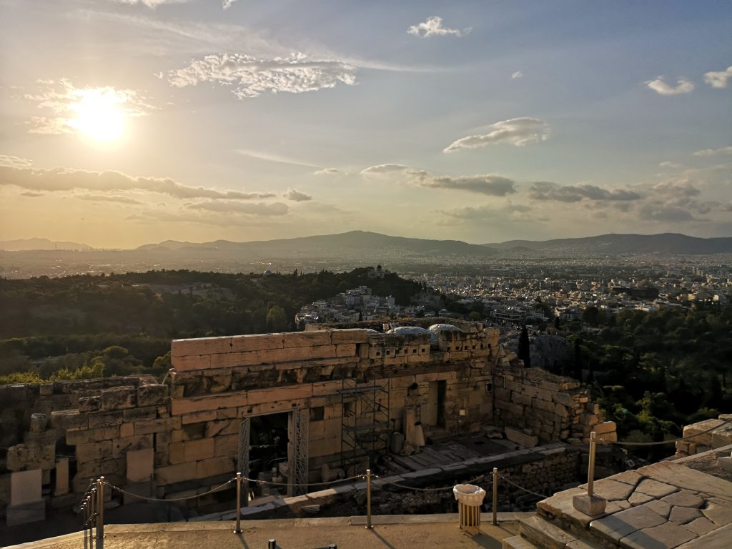 The sunset from the Acropolis will wow any first-time visitor to Greece