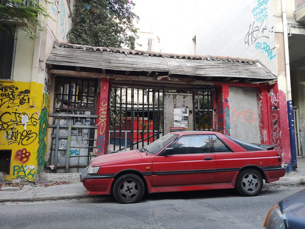 Old cars and graffiti in Athens