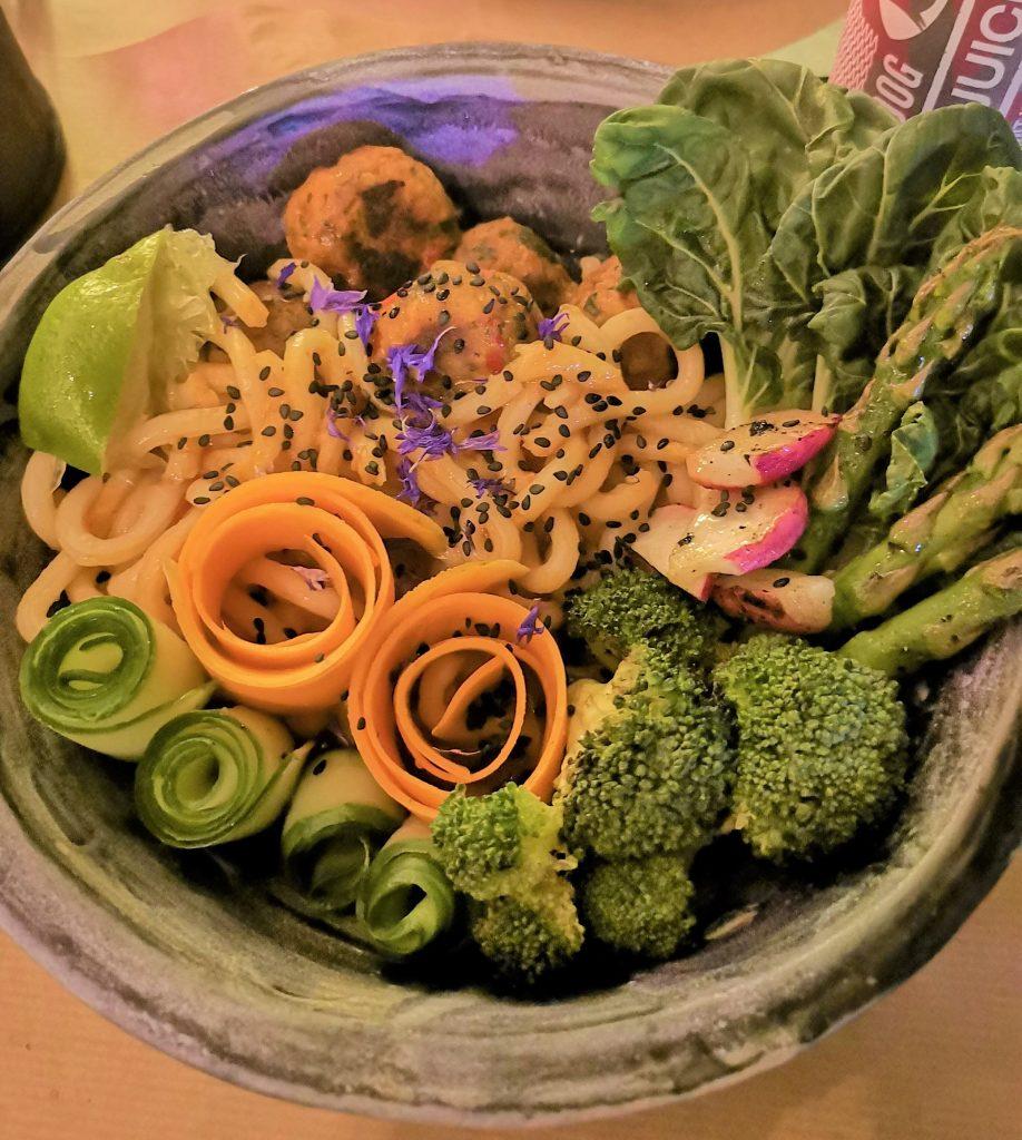 Healthy vegan food at Winners Vegan Restaurant, Athens.