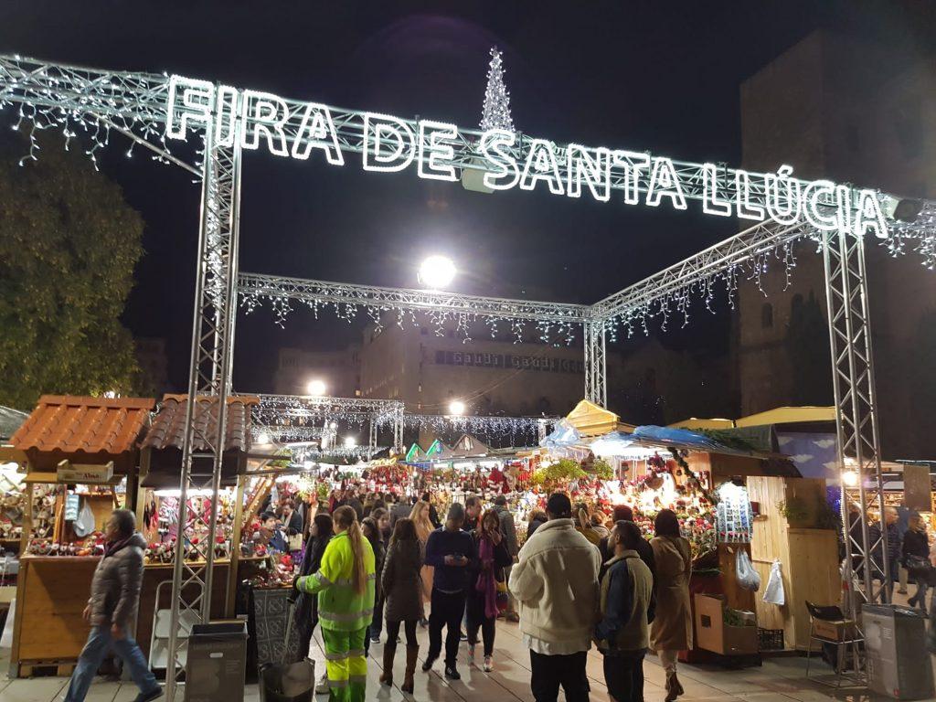 Barcelona Christmas market, Gothic Quarter 2019