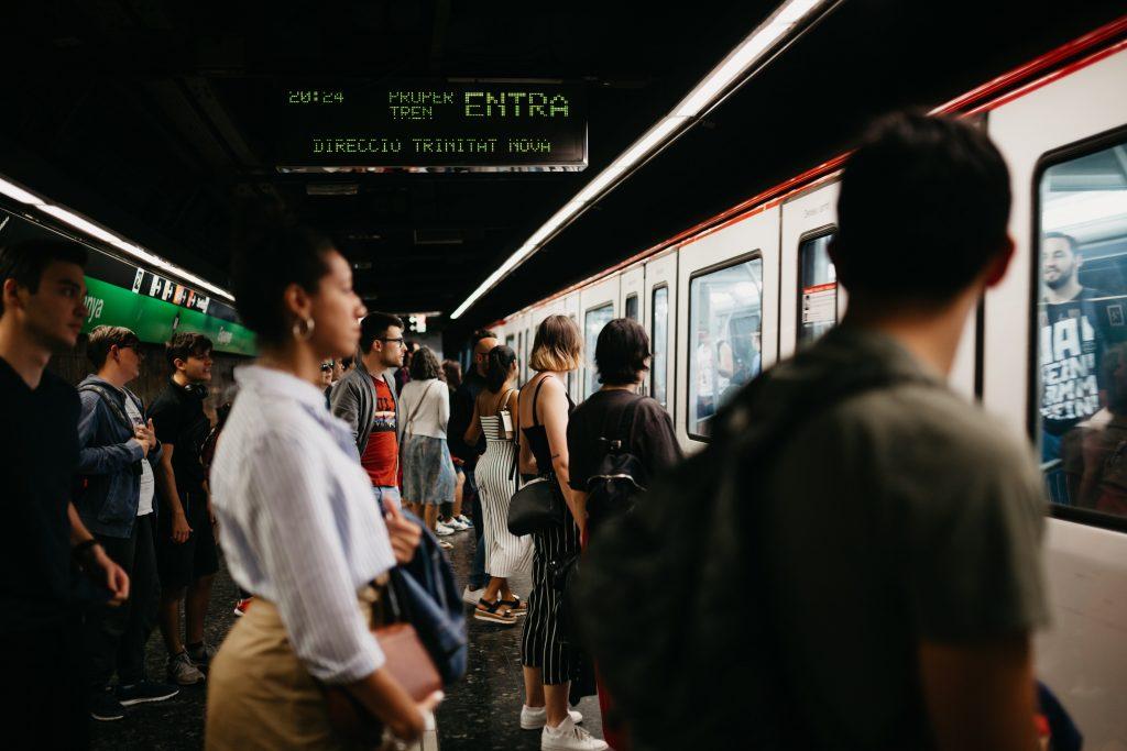 Barcelona metro at Plaça Catalunya, Gothic Quarter