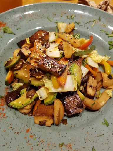 Delicious vegan dish at Avocado, Athens