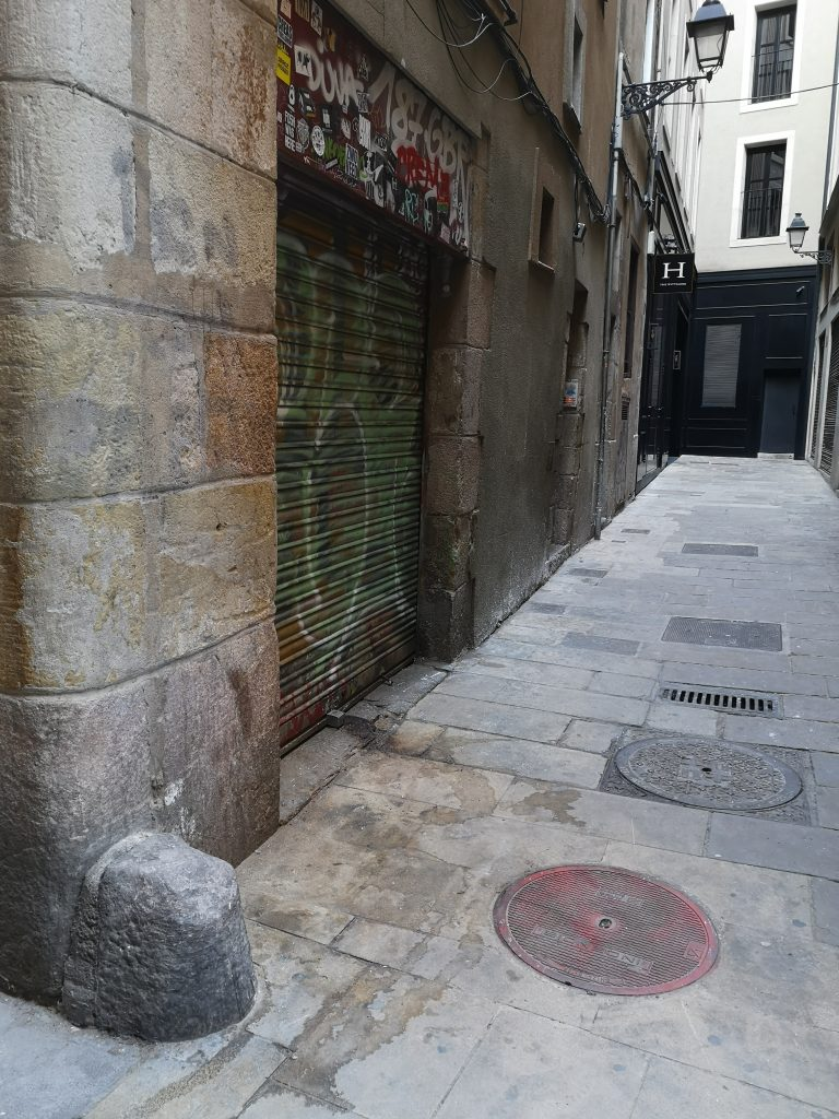 One of the Gothic Quarter's many pee-stained streets