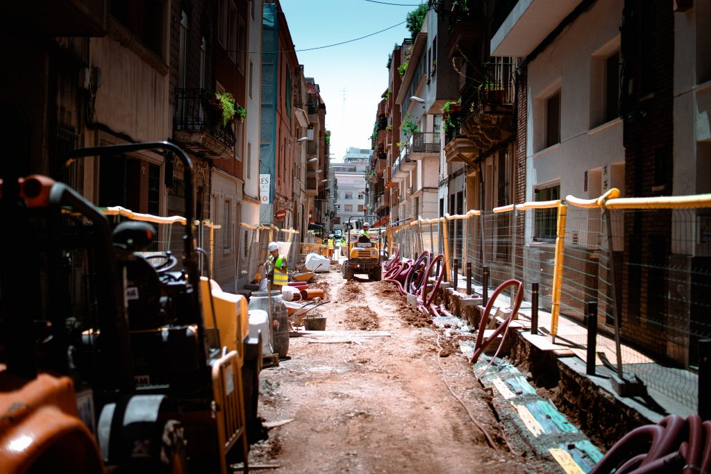 Construction works are a major source of noise in Barcelona's Gothic Quarter